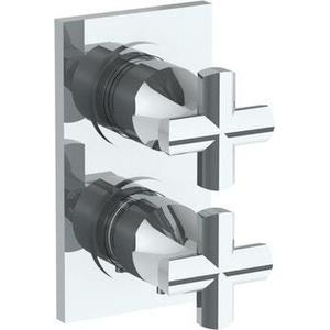 "Wall Mounted Mini Thermostatic Shower Trim With Built-in Control, 3 1/2"" X 8"""