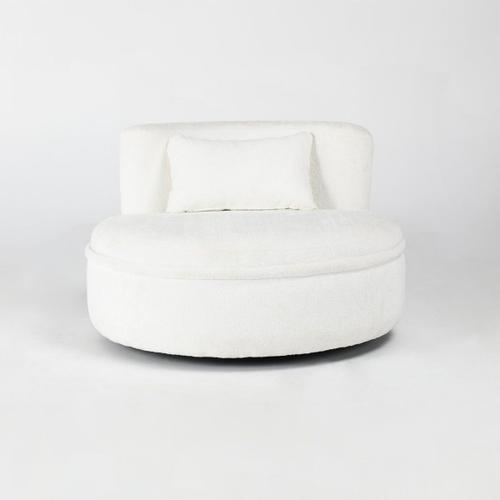 Classic Home - Krista Swivel Lounge Chair Ivory