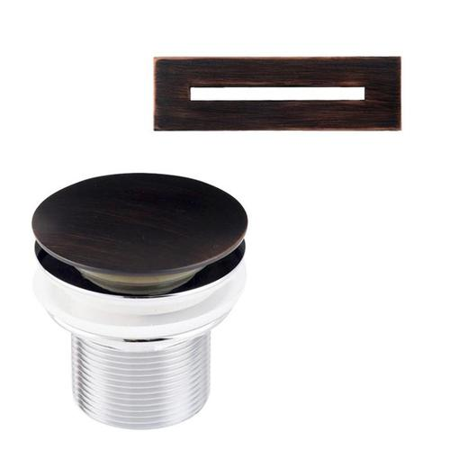 """Piper 71"""" Extra Wide Acrylic Tub with Integral Drain - Tap Deck - No Drillings / Oil Rubbed Bronze Drain and Overflow"""