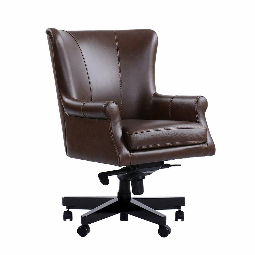 See Details - DC#129 Verona Brown - DESK CHAIR Leather Desk Chair