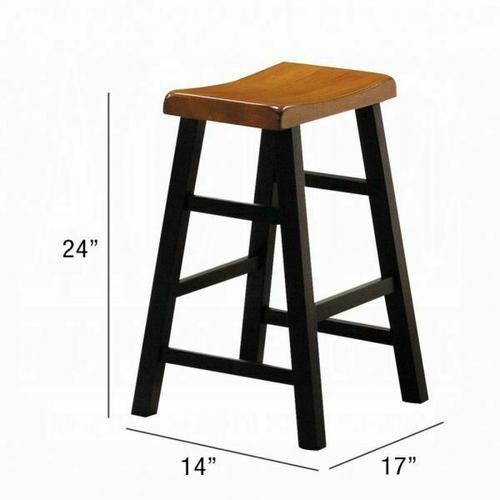 ACME Gaucho 5Pc Pack Counter Height Set - 07285 - Oak & Black