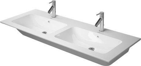 Me By Starck Double Furniture Washbasin 2 Faucet Holes Pre-marked With Large Distance Between Faucets
