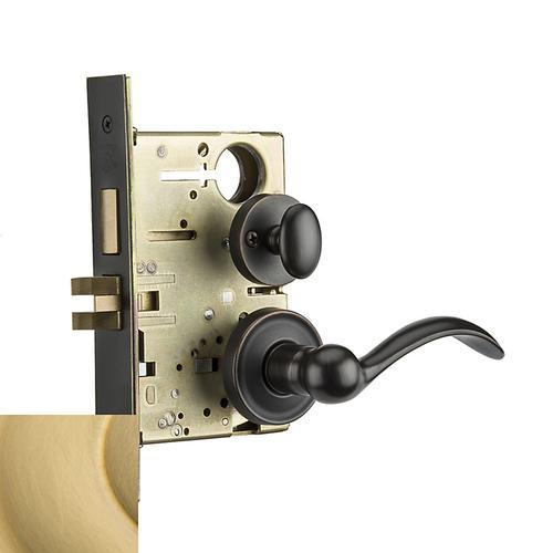 Baldwin - Lifetime Satin Brass Boulder Sectional Privacy Set