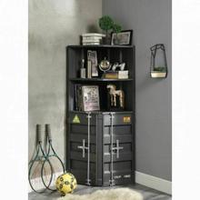 ACME Cargo Bookcase (Corner) - 92692 - Industrial - Metal (Iron), Paper Veneer, MDF - Gunmetal