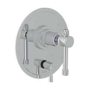 Campo Pressure Balance Trim with Diverter - Polished Chrome with Industrial Metal Lever Handle
