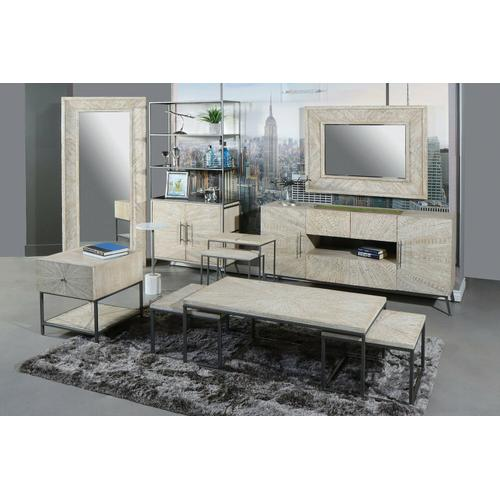 Parker House - CROSSINGS MONACO Accent Table (Made of Iron & Marble)