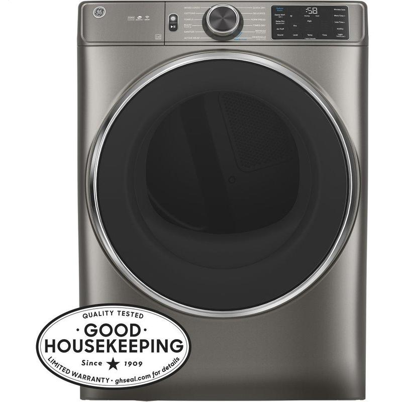 GE® 7.8 cu. ft. Capacity Smart Front Load Electric Dryer with Steam and Sanitize Cycle