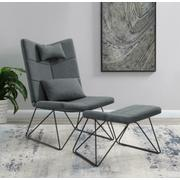 Accent Chair With Ottoman Product Image