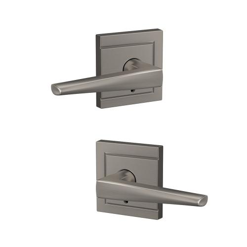 Custom Eller Non-Turning Lever with Upland Trim - Satin Nickel