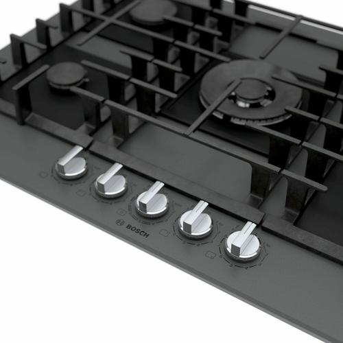 Benchmark® Gas Cooktop 30'' Tempered glass, dark silver NGMP077UC