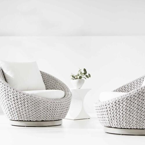 Product Image - Savaii Swivel Chair in Rope in Marled Clay