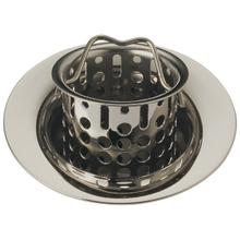 Polished Nickel Bar / Prep Sink Flange and Strainer