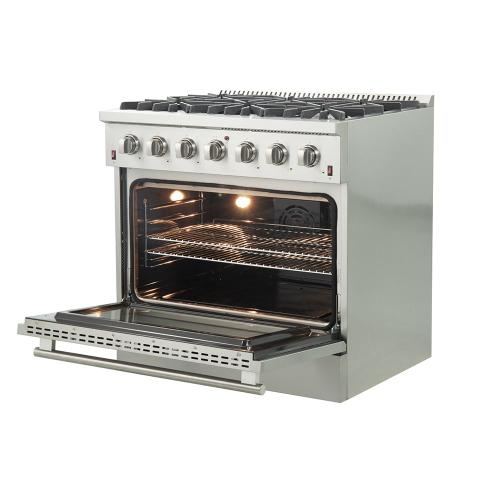 "GALIANO - Gold Professional 36"" Freestanding Gas Range"