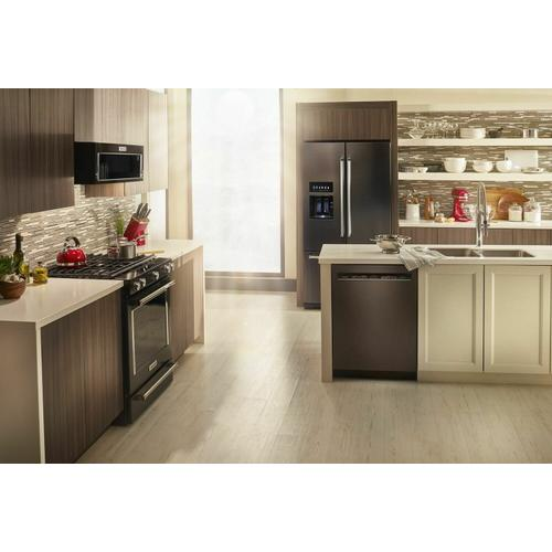KitchenAid - 26.8 cu. ft. 36-Inch Width Standard Depth French Door Refrigerator with Exterior Ice and Water and PrintShield™ Finish - Black Stainless Steel with PrintShield™ Finish
