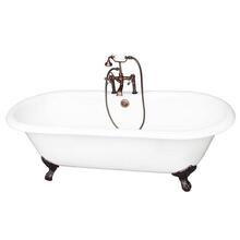 """Duet 67"""" Cast Iron Double Roll Top Tub Kit - Oil Rubbed Bronze Accessories"""