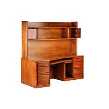 Forest Designs Bullnose Alder Angled Computer Desk & Hutch: 74W X 71H X 35D