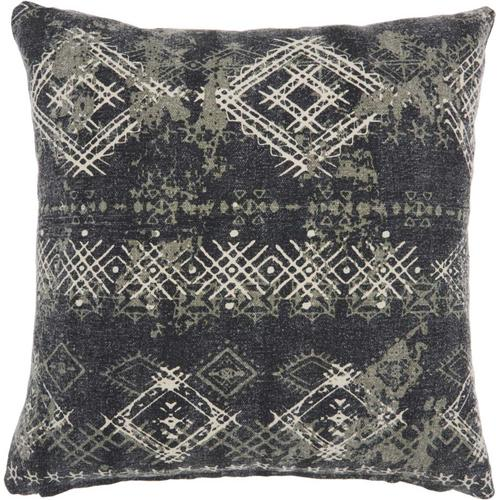 """Life Styles Gt655 Charcoal 22"""" X 22"""" Throw Pillow"""