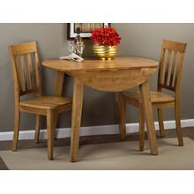 Simplicity Drop Leaf Table W/(2) Slatback Chairs