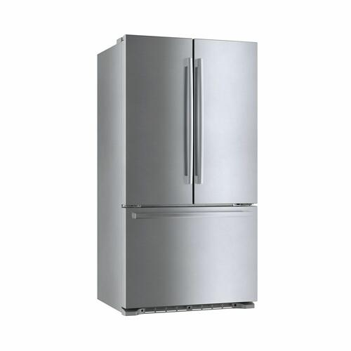 800 Series French Door Bottom Mount Refrigerator Easy clean stainless steel B21CT80SNS
