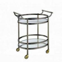 ACME Lakelyn Serving Cart - 98190 - Brushed Bronze & Clear Glass