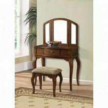 ACME Maren Vanity Desk & Stool - 90094 - Oak