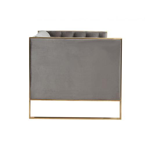 VIG Furniture - Divani Casa Carlos Modern Grey Velvet & Gold Sofa