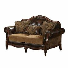 ACME Dreena Loveseat w/3 Pillows - 05496 - PU & Chenille