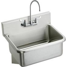 """See Details - Elkay Stainless Steel 31"""" x 19.5"""" x 10-1/2"""", Wall Hung Single Bowl Hand Wash Sink Kit"""