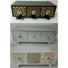 WOODEN CABINET THREE COLORS ASST