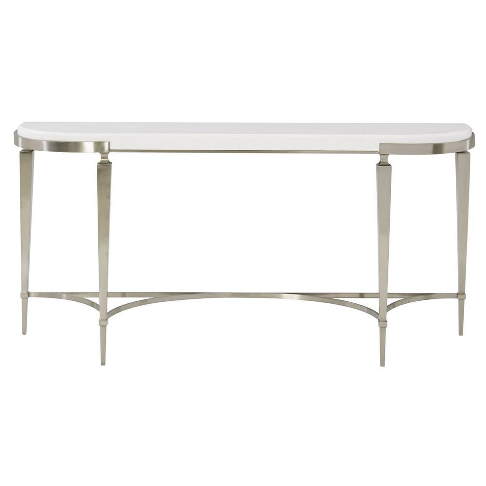 Domaine Blanc Demilune Console Table