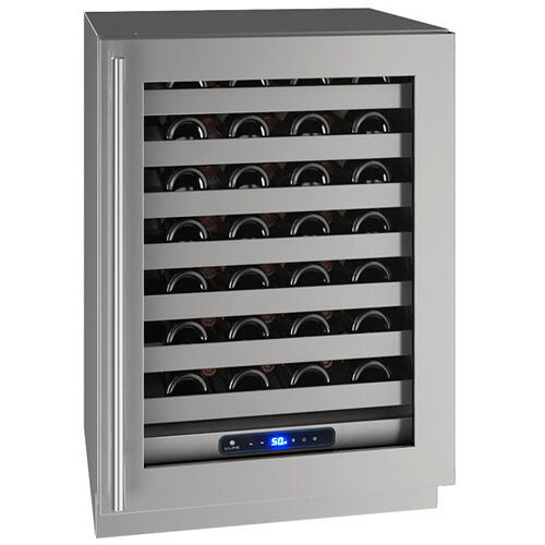 "24"" Wine Refrigerator With Stainless Frame Finish and Field Reversible Door Swing (115 V/60 Hz Volts /60 Hz Hz)"