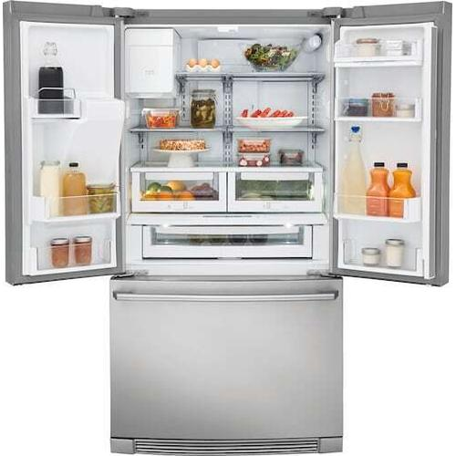 Electrolux - Counter-Depth French Door Refrigerator with Wave-Touch® Controls