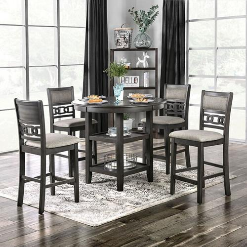 Furniture of America - Milly 5 Pc. Counter Ht. Set