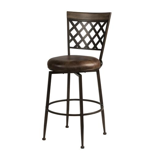 Greenfield Commercial Swivel Counter Height Stool, Dark Brown