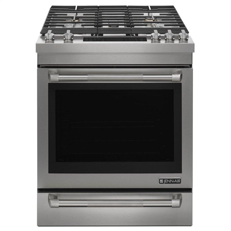 """Pro-Style® 30"""" Slide-In Gas Range Pro Style Stainless"""