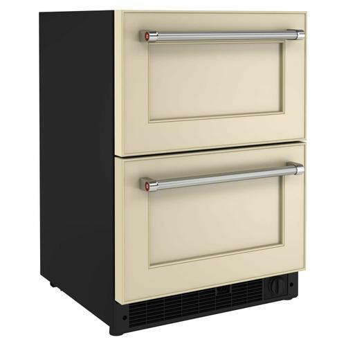 """KitchenAid - 24"""" Panel-Ready Undercounter Double-Drawer Refrigerator/Freezer - Panel Ready PA"""
