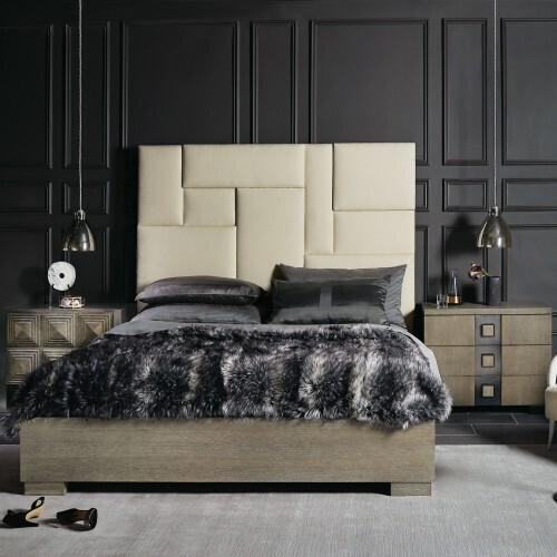 Gallery - King-Sized Mosaic Upholstered Panel Bed