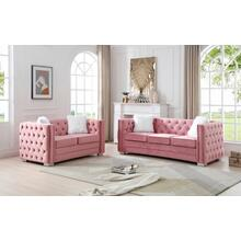 See Details - Toulouse Sofa, Pink Velvet