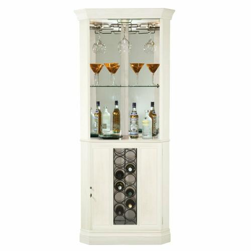 Howard Miller - 690-046 Piedmont V Corner Wine & Bar Cabinet