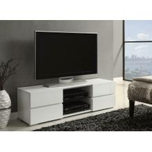 Coaster 700825 Glossy White TV Console