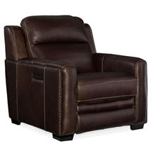Living Room Lincoln Power Recliner w/ Power Headrest & Lumbar Recline