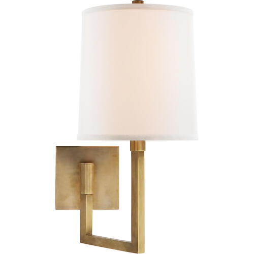 Barbara Barry Aspect 11 inch 75.00 watt Soft Brass Swing-Arm Wall Light