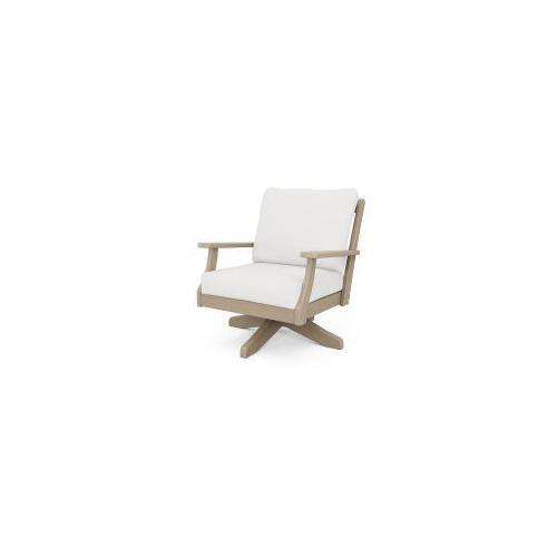 Braxton Deep Seating Swivel Chair in Vintage Sahara / Natural Linen