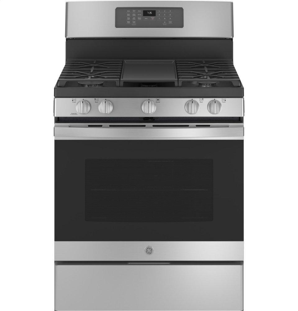 "GE30"" Free-Standing Gas Convection Range With No Preheat Air Fry"