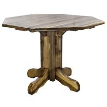 Homestead Collection Center Pedestal Table, Stain and Lacquer Finish