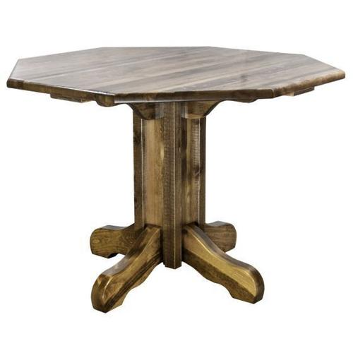 Montana Woodworks - Homestead Collection Center Pedestal Table, Stain and Lacquer Finish