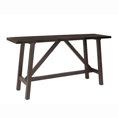 Console/Counter Table - Dark Pine Finish