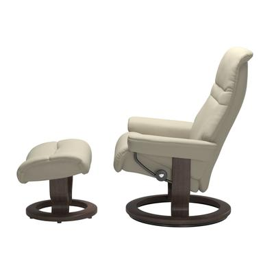 See Details - Stressless® Sunrise (S) Classic chair with footstool