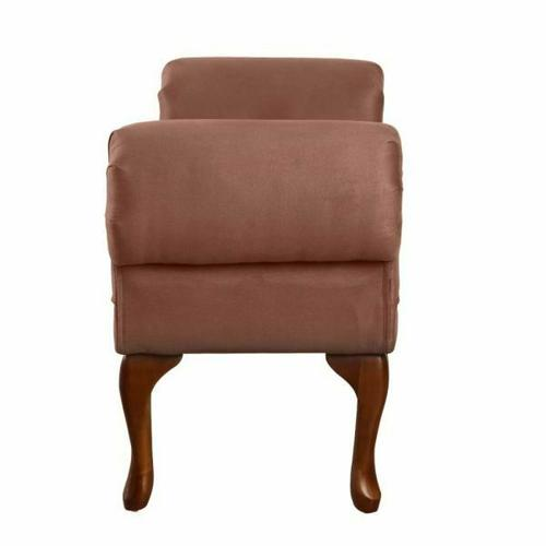 ACME Aston Bench w/Rolled Arm - 05626 - Chocolate Microfiber