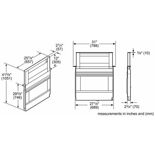 Bosch - 800 Series Downdraft Ventilation 30'' Stainless Steel HDD80051UC